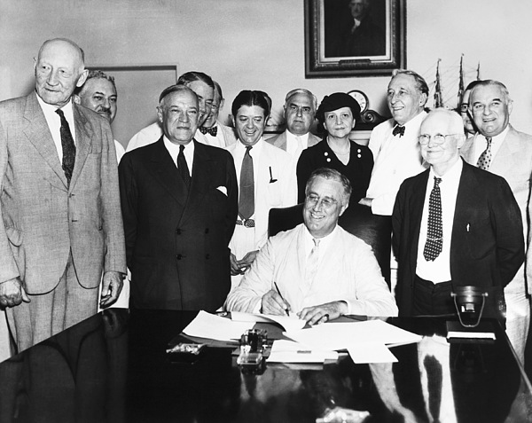 1935 Photograph - Social Security Act, 1935 by Granger