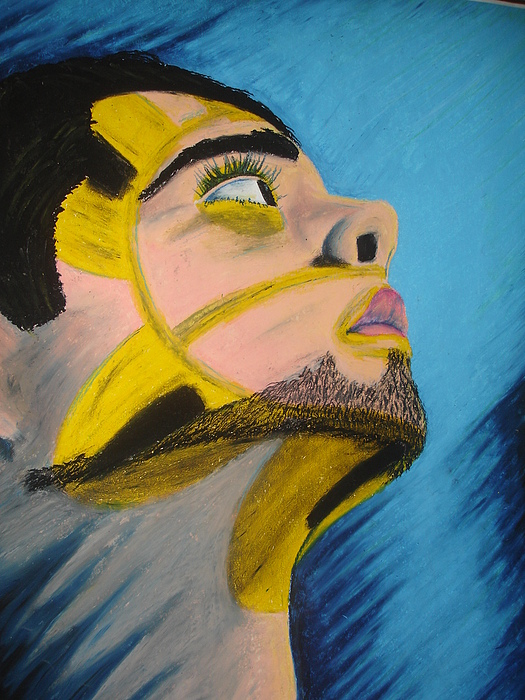 My Face Pastel - Sol Taino by Gilbert Nieves