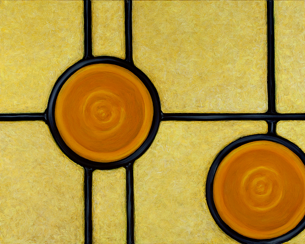 Circles Painting - Solace by Don Mullins