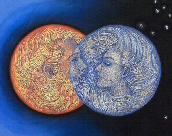 Solar Eclipse Painting - Solar Eclipse by Sue Halstenberg