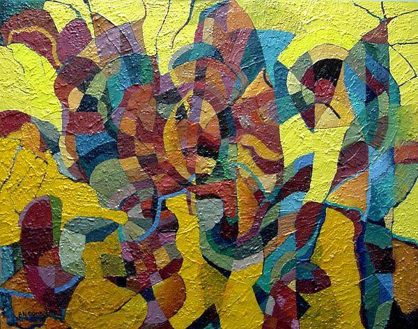 Abstract Painting - Solar Regatta by Bernard Goodman