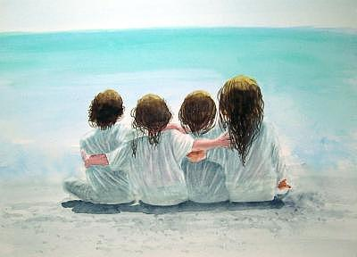 Beach Painting - Sold by Charles Falk Jr
