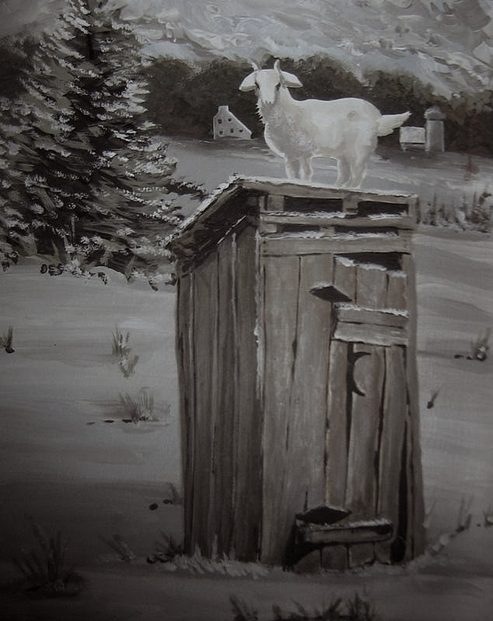 Sold-the Goats Gotta Go Painting by Charlie Mumah