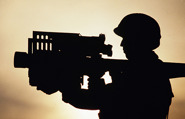 Horizontal Photograph - Soldier Holds A Stinger Anti-aircraft by Stocktrek Images