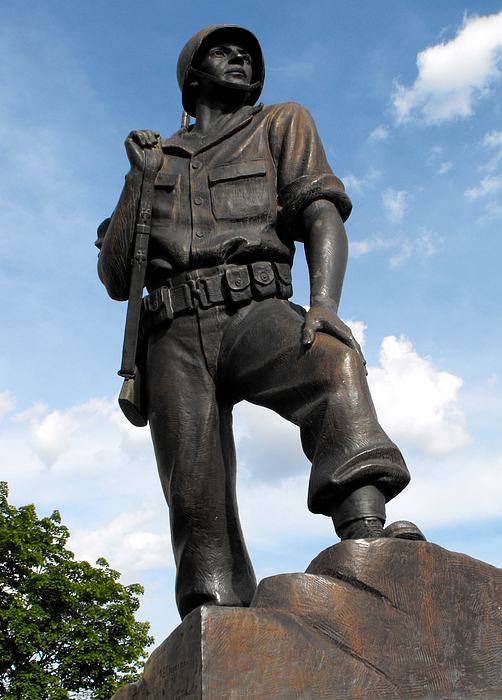 Statue Photograph - Soldier by Jan  Tribe