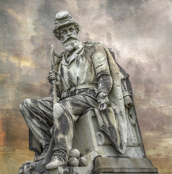 Gettysburg Battlefield Digital Art - Soldiers National Monument War Statue Gettysburg Cemetery  by Randy Steele