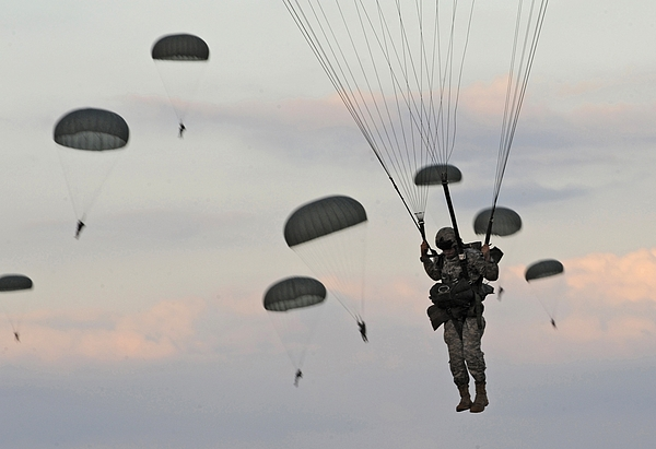 History Photograph - Soldiers Of The 82nd Airborne Descend by Everett