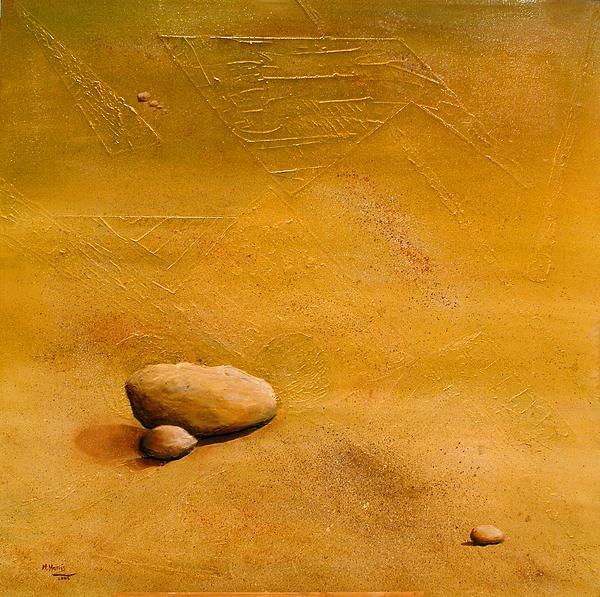 Stones Painting - solitude by marina Harris