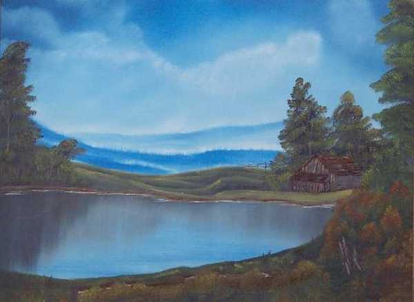 Pond Painting - Solitude  by Sheldon Kiroff