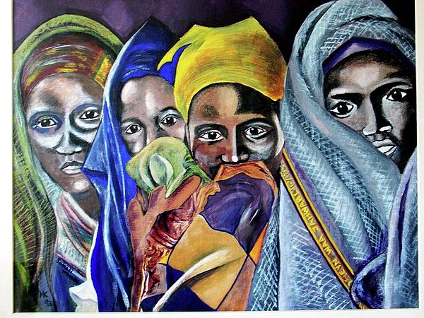 Somali Painting - Somali Women by Miriam Kalb
