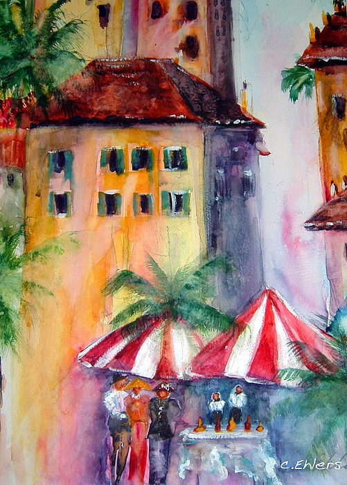 Local Color Painting - Somehwere In Italy by Cheryl Ehlers