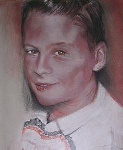 Portrait Drawing - Son by Michele Vavonese
