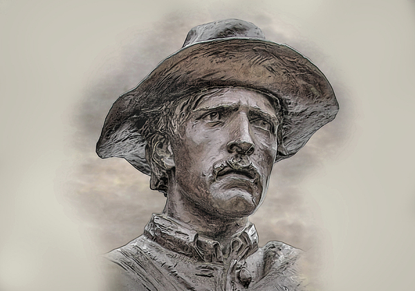 Sons Of The Confederacy Digital Art - Son Of The Confederacy Portrait by Randy Steele