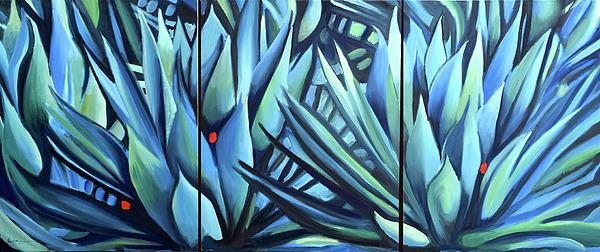 Peaceful Painting - Song Of Dark Leaves by Geoff Greene
