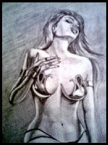Pencil Drawing - Sonja by Shakti Star