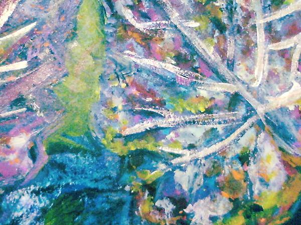 Leaves Painting - Soothing Blues And Greens by Anne-Elizabeth Whiteway