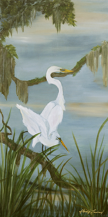 Marsh Scene Painting - Soul Mates by Shirley Lawing
