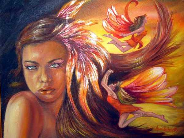 Soulfire Painting by Anne Kushnick