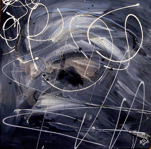 Abstract Painting - Sound Waves by Ofelia Uz