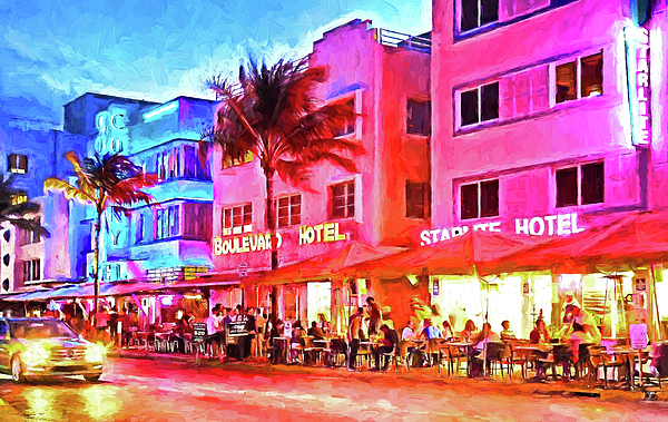 United States Of America Photograph - South Beach Neon by Dennis Cox WorldViews