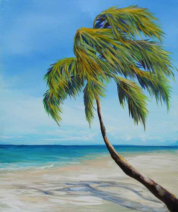 Palm Tree Painting - South Beach Palm by Michele Hollister - for Nancy Asbell