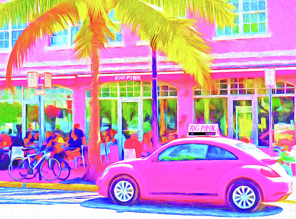 United States Of America Photograph - South Beach Pink by Dennis Cox WorldViews