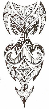 South Pac Tribal Drawing by Kamu Kamu