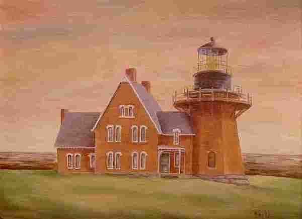 Lighthouse Painting - Southeast Lighthouse by Della Kaple
