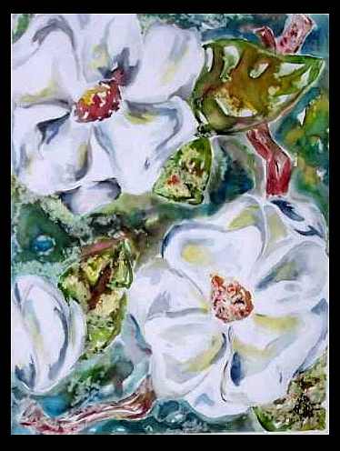 Magnolia Painting - Southerners Watermark Sold by Amanda  Sanford