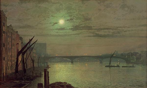 Southwark Painting - Southwark Bridge by John Atkinson Grimshaw