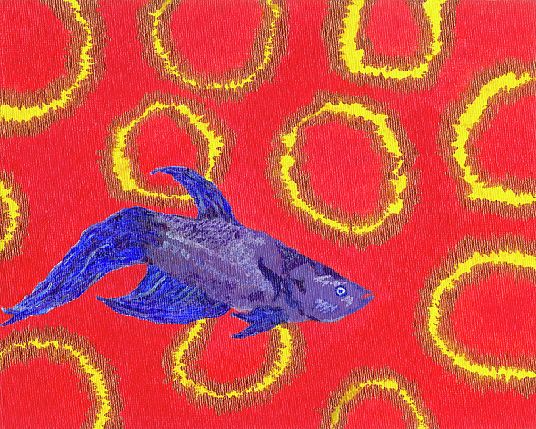 Fish Painting - Space Fish by Rishanna Finney
