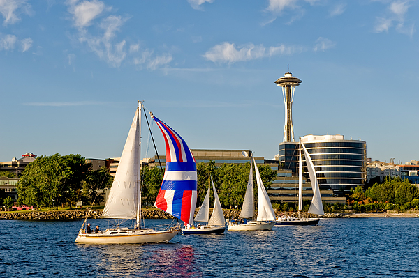 Seattle Photograph - Space Needle Seattle by Tom Dowd