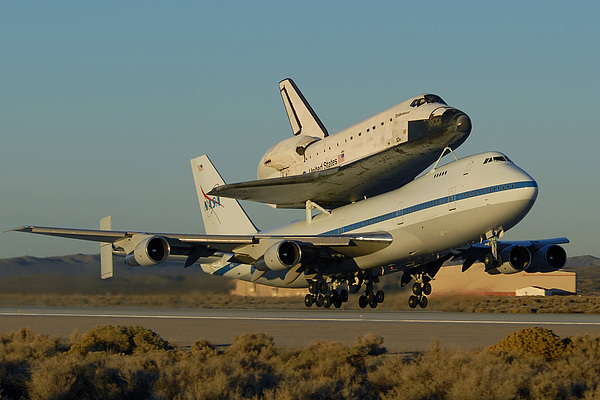 Space Photograph - Space Shuttle Endeavour Departs Edwards Afb December 10 2008 by Brian Lockett