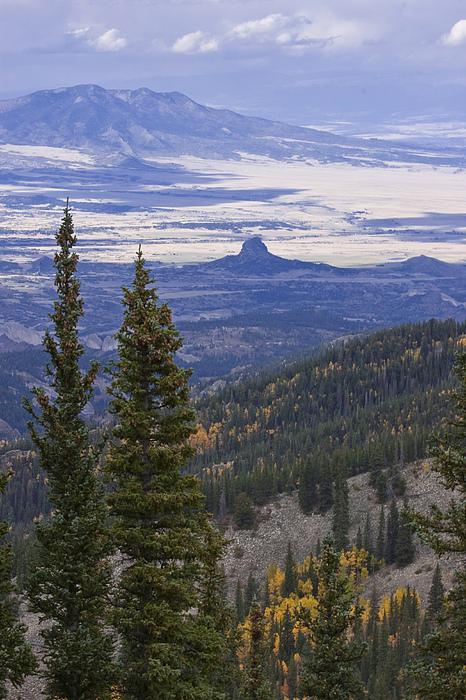 Black Mesa Photograph - Spanish Peaks by Charles Warren