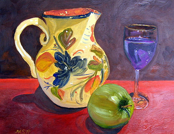 Wine Painting - Spanish Sangria by Maria Soto Robbins