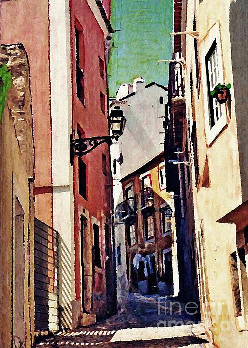 Street Photograph - Spanish Town by Sarah Loft