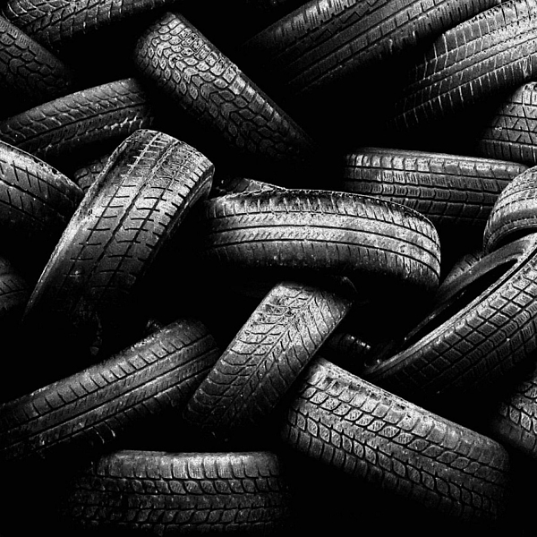 Square Photograph - Spare Tires by Margherita Wohletz