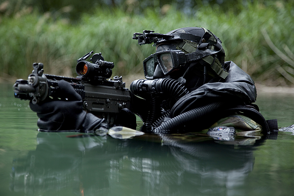 Special Operations Forces Photograph - Special Forces Combat Diver Takes by Tom Weber