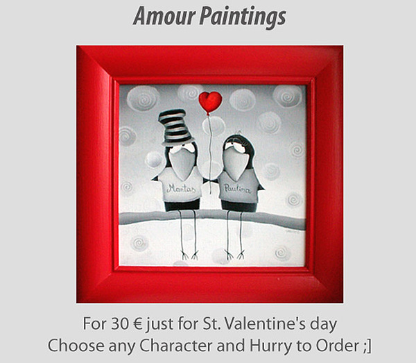 Valentine Painting - Specially For Your Valentine by Gabriele Elgaafary