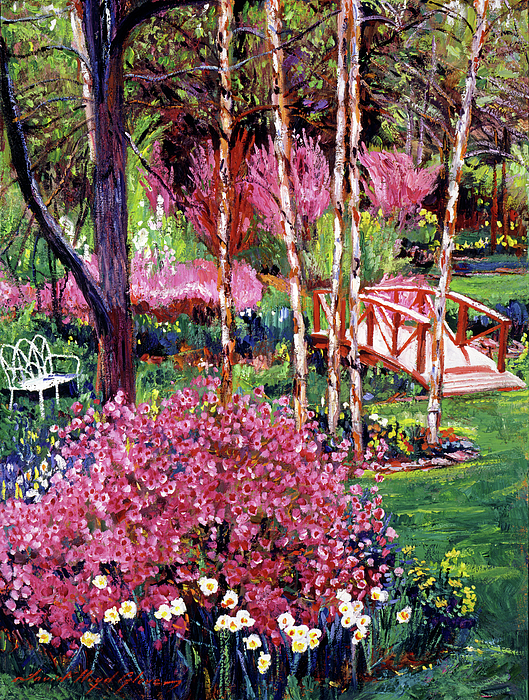 Gardens Painting - Spellbound Color Impressions by David Lloyd Glover