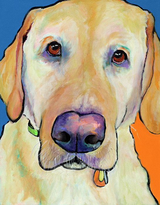 Yellow Lab Painting - Spenser by Pat Saunders-White