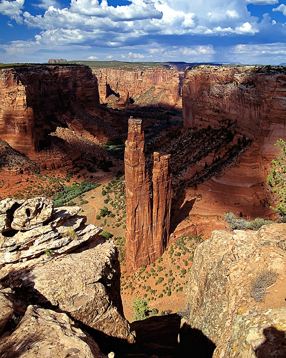 Southwest Usa Photograph - Spider Rock Canyon De Chelly Arizona by George Oze