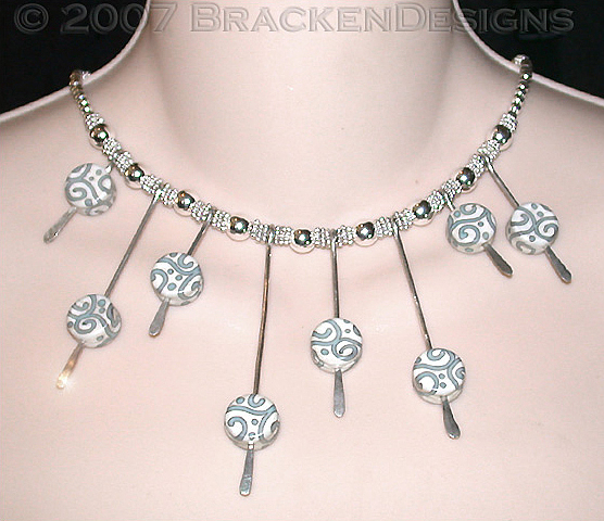 Beads Jewelry - Spikes And Spirals by Laura Bracken