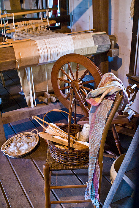 Spinning Photograph - Spinning And Weaving by Douglas Barnett