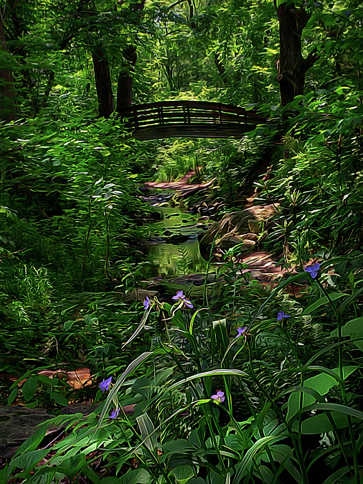 Vivid Digital Art - Spirit Bridge 2 by William Horden
