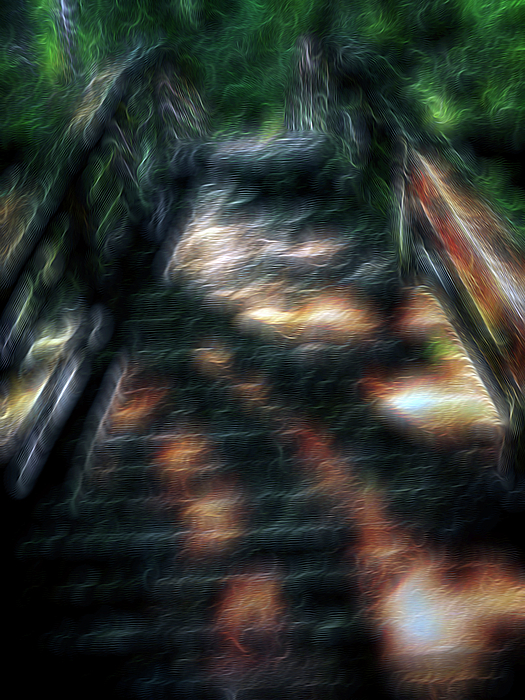 Abstract Digital Art - Spirit Bridge by William Horden