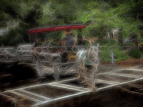 Abstract Digital Art - Spirit Carriage 2 by William Horden