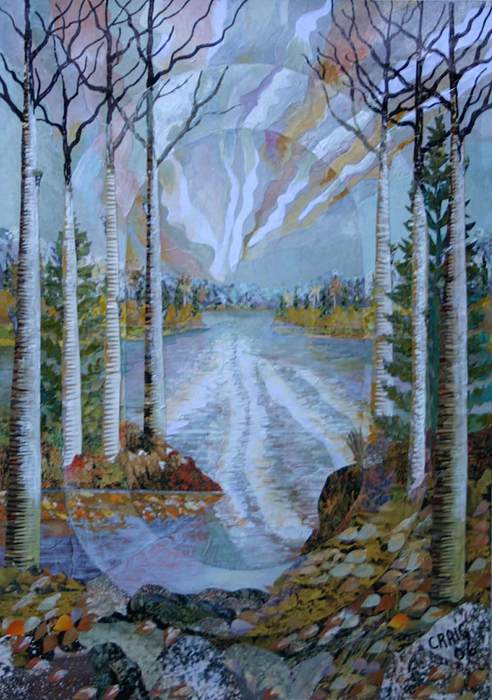 Landscape Mixed Media - Spirit Of The Poplars by Bob Craig