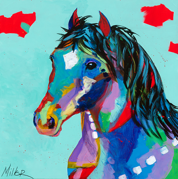 Horse Painting - Spirited by Tracy Miller