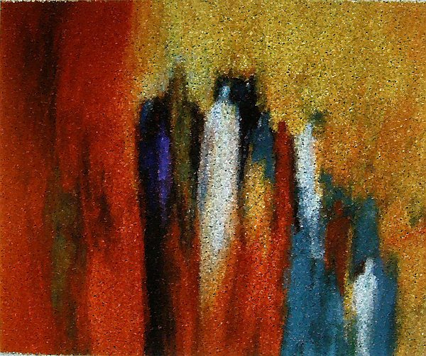 Abstract Painting - Spirits Gathered by Don Phillips